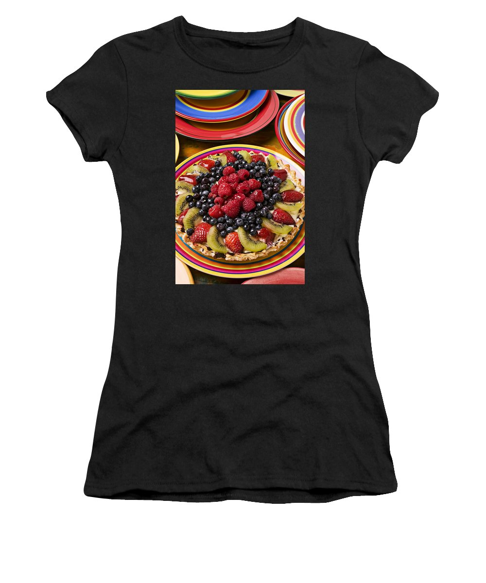 Fruit Women's T-Shirt (Athletic Fit) featuring the photograph Fruit Tart Pie by Garry Gay