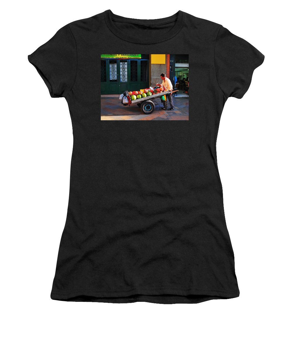 Fruta Limpia Women's T-Shirt (Athletic Fit) featuring the photograph Fruta Limpia by Skip Hunt