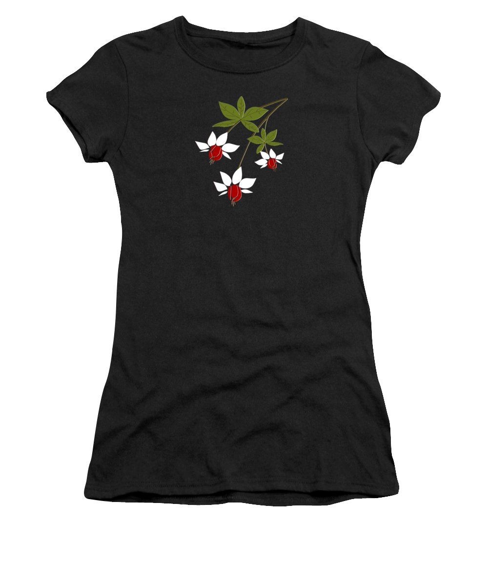 Fuchsia Women's T-Shirt featuring the digital art Fuchsia by Anastasiya Malakhova