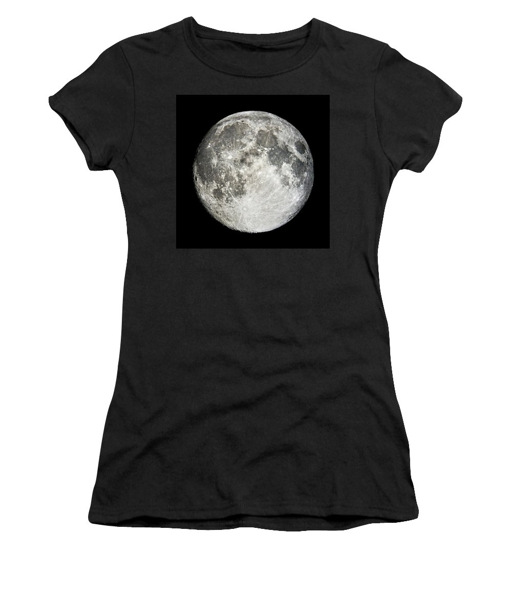 Full Moon Women's T-Shirt featuring the photograph Full Moon Rising by Weston Westmoreland