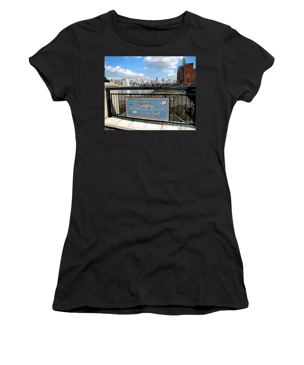 Wharf Women's T-Shirt (Athletic Fit) featuring the photograph Gabriel's Wharf by Madeline Ellis
