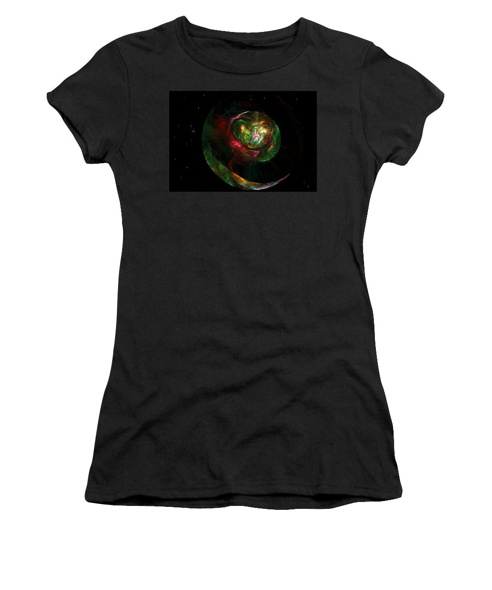 Fantasy Women's T-Shirt (Athletic Fit) featuring the digital art Gaia Revealed by David Lane