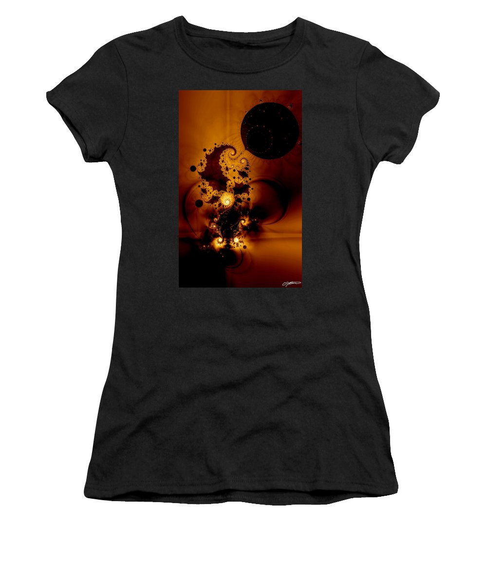 Fractal Women's T-Shirt (Athletic Fit) featuring the digital art Galileo's Muse by Casey Kotas