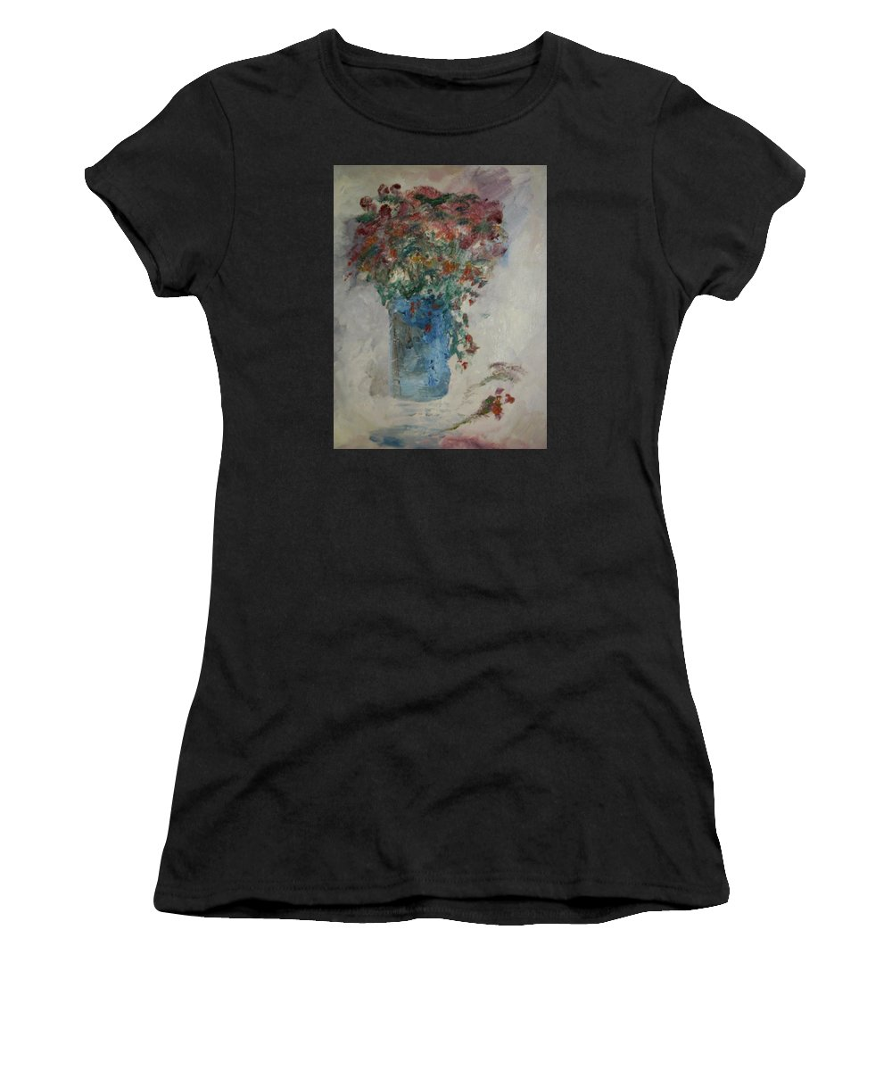 Still Life Women's T-Shirt featuring the painting Gallon Can Florals by Edward Wolverton