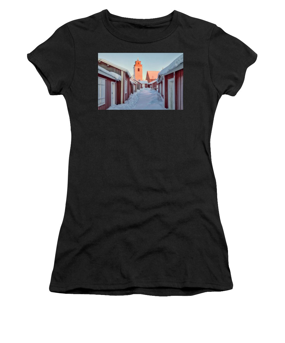 Gammelstad Women's T-Shirt featuring the photograph Gammelstad Lulea - Sweden by Joana Kruse