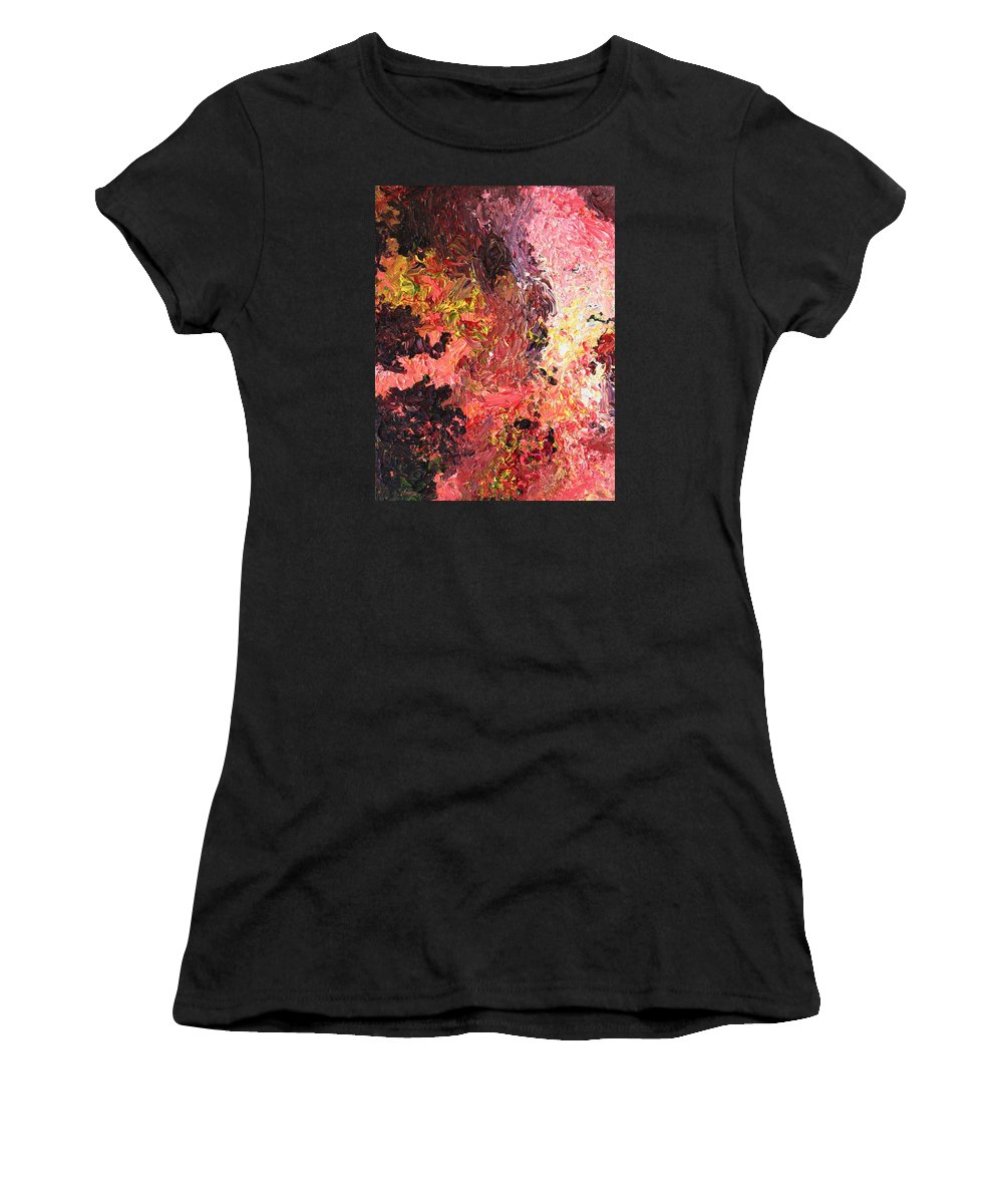 Fusionart Women's T-Shirt featuring the painting Ganesh In The Garden by Ralph White