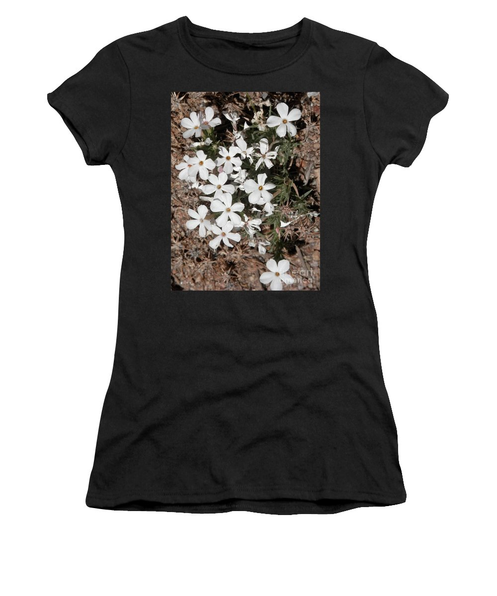 Little White Flowers Women's T-Shirt (Athletic Fit) featuring the photograph Garden Babies by L Cecka