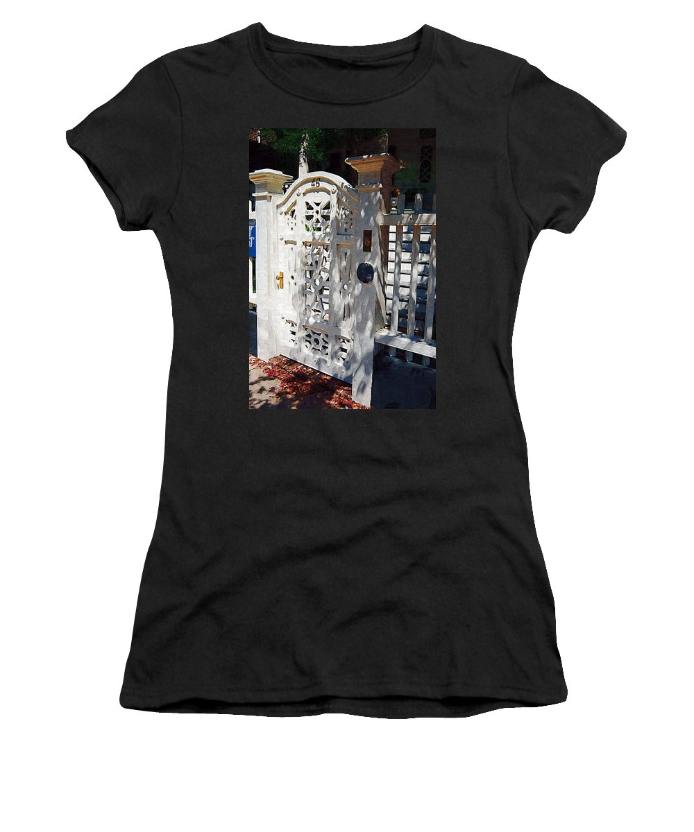 Gate Women's T-Shirt (Athletic Fit) featuring the photograph Gate 46 by Donna Bentley