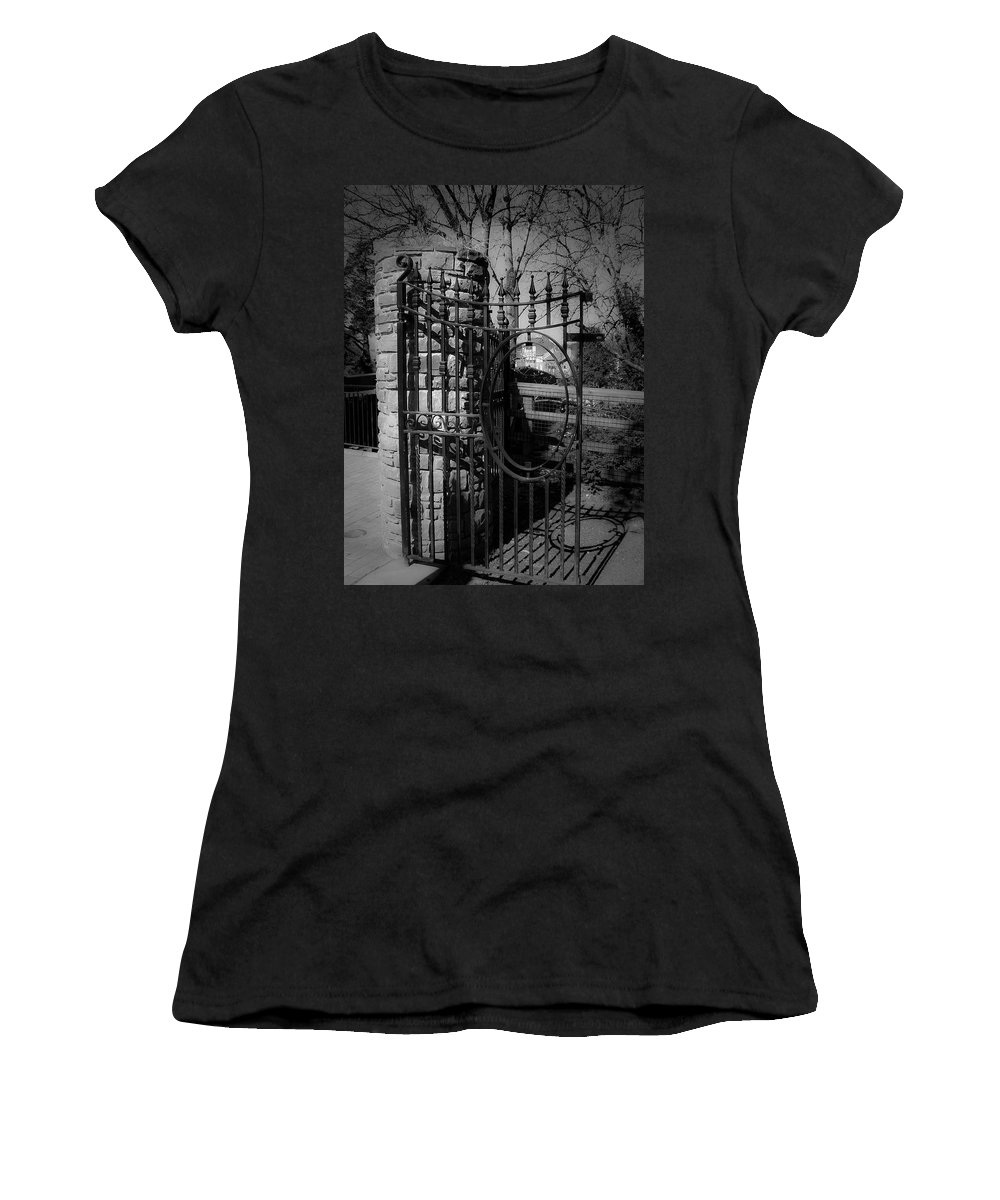 Irish Women's T-Shirt (Athletic Fit) featuring the photograph Gate In Macroom Ireland by Teresa Mucha