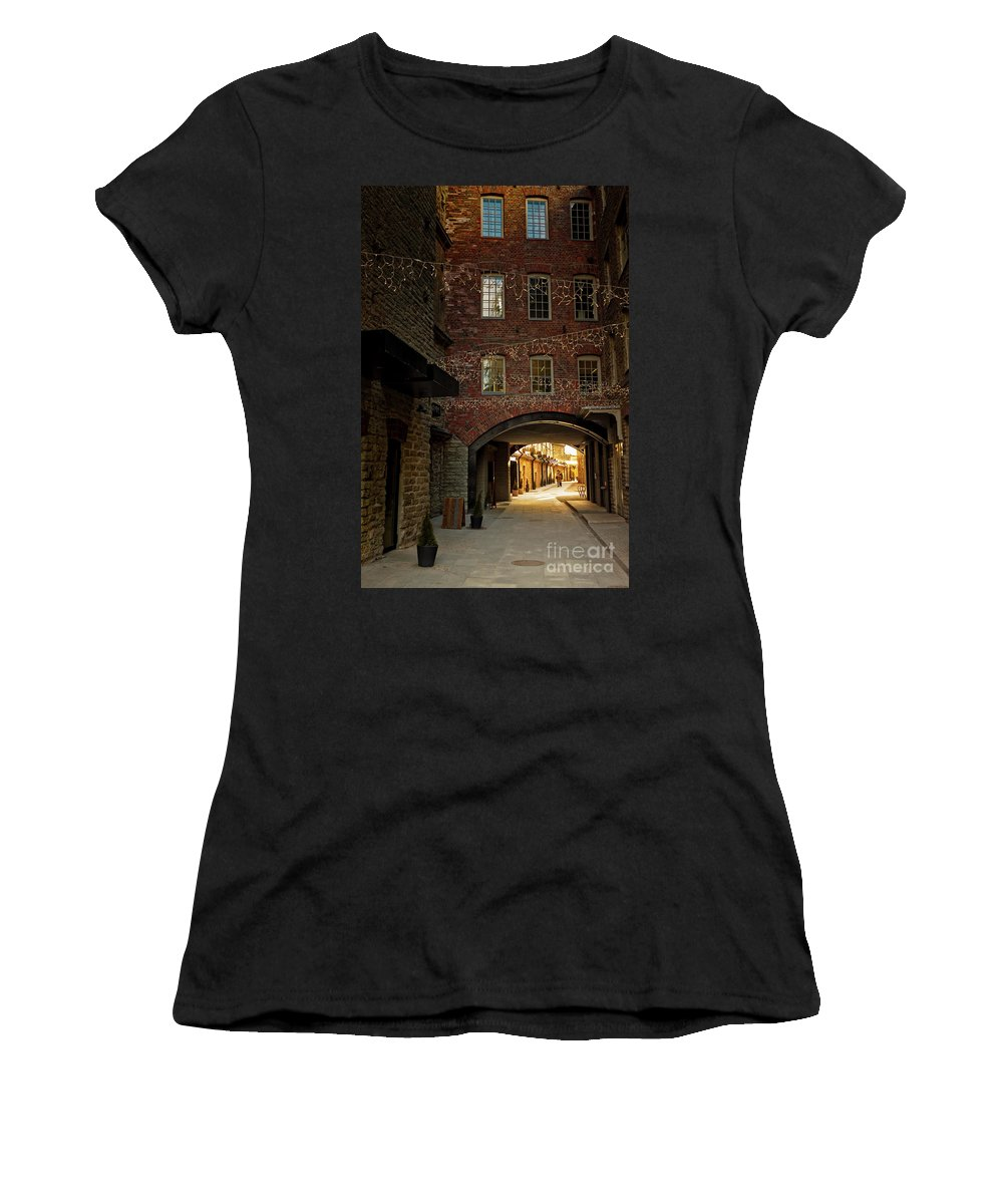 Baltic Countries Women's T-Shirt (Athletic Fit) featuring the photograph Gateway At The Rotermann Area by Jukka Heinovirta