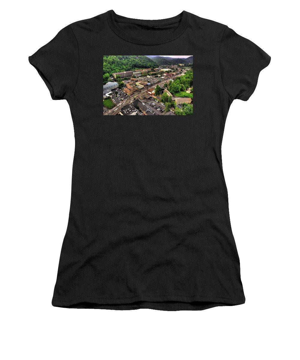 Gatlinburg Tennessee Women's T-Shirt featuring the photograph Gatlinburg Tennessee by Michael Eingle