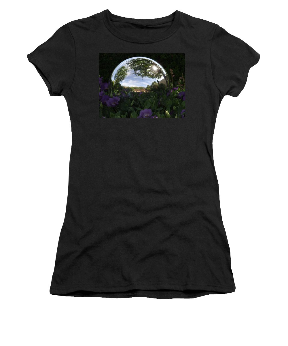 Gazing Ball Women's T-Shirt featuring the photograph Gazing Ball by William Moore