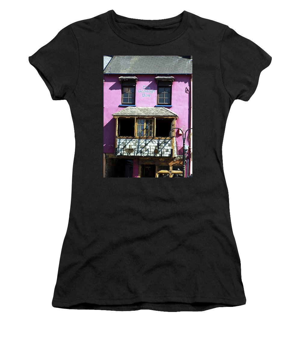 Irish Women's T-Shirt (Athletic Fit) featuring the photograph Gearagh Pub In Macroom Ireland by Teresa Mucha