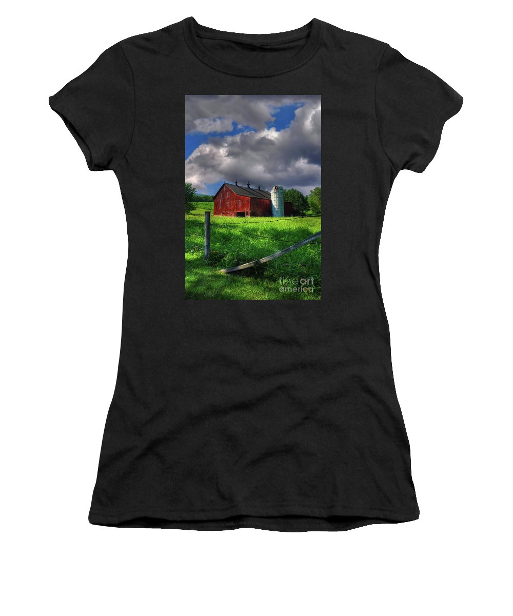 Landscape Women's T-Shirt (Athletic Fit) featuring the photograph Gentle Summer by Lois Bryan