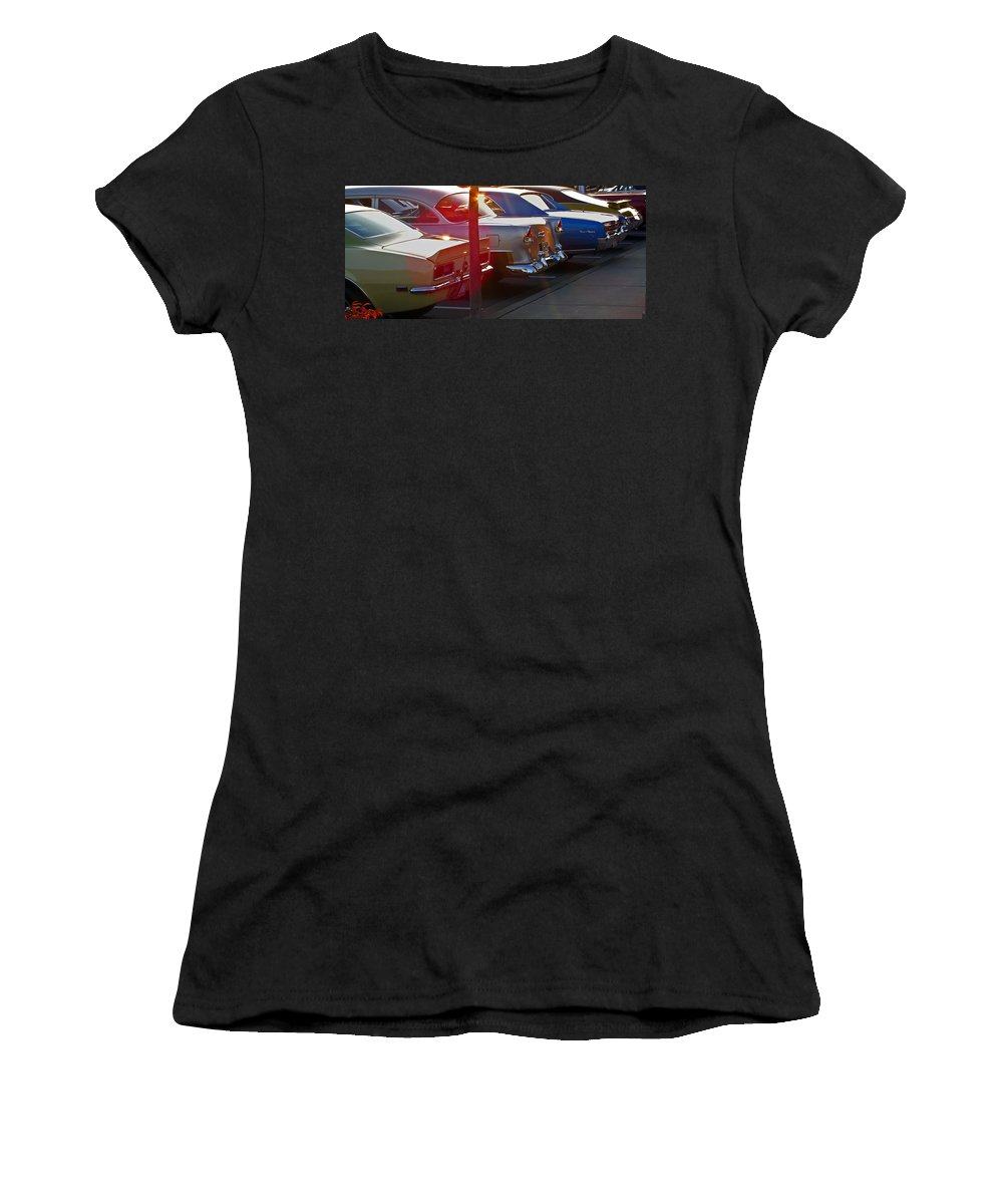 Antique Women's T-Shirt (Athletic Fit) featuring the photograph Gentlemen Stop Your Engines by Gary Adkins