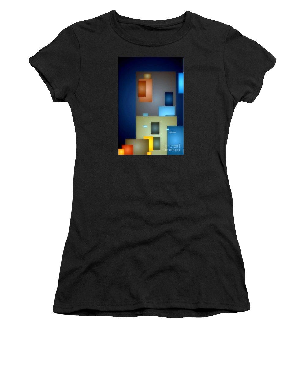 Rafael Salazar Women's T-Shirt (Athletic Fit) featuring the digital art Geometric Abstract 0790 by Rafael Salazar