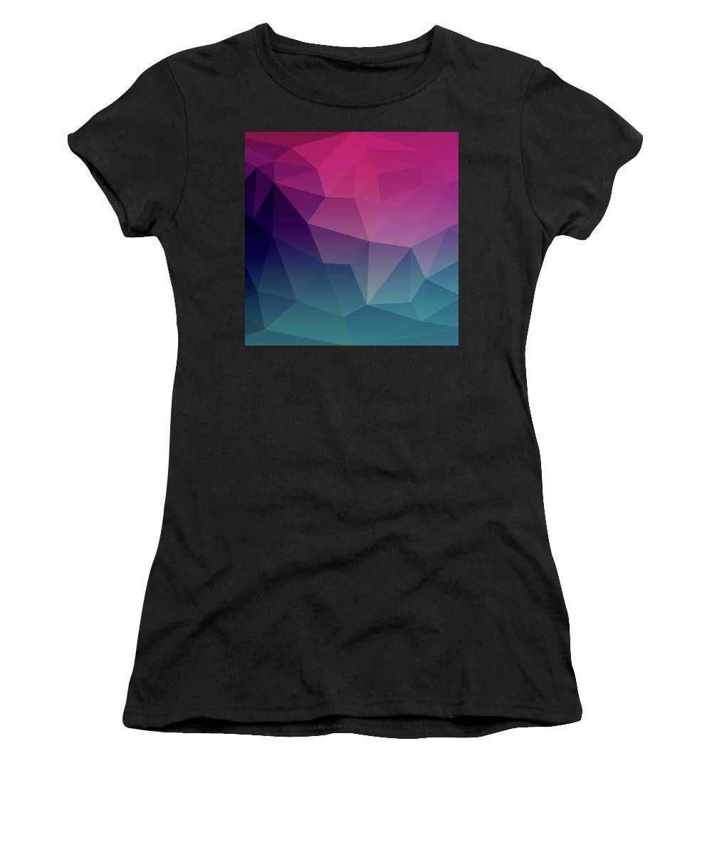 Geometric Women's T-Shirt (Athletic Fit) featuring the digital art Geometric Flow by Susan Link