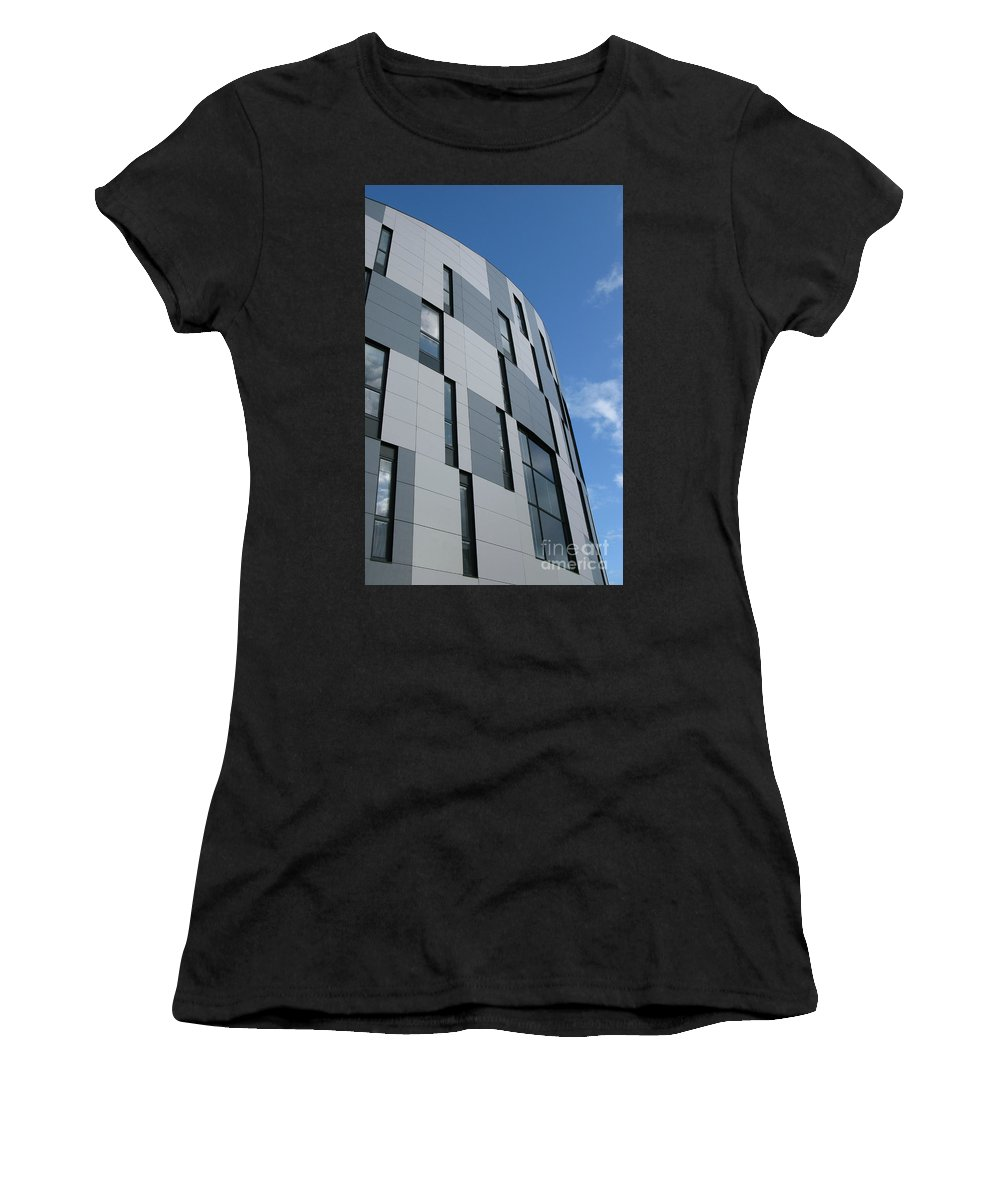 Architecture Women's T-Shirt featuring the photograph Geometric Intrigue by Ann Horn