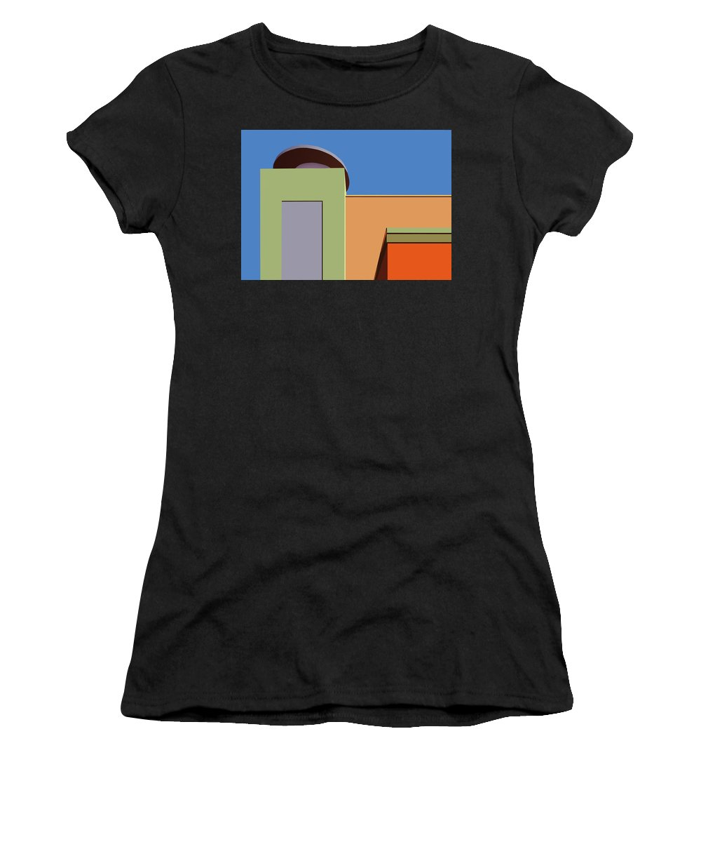 Color Women's T-Shirt featuring the photograph Geometry 101 by Nikolyn McDonald