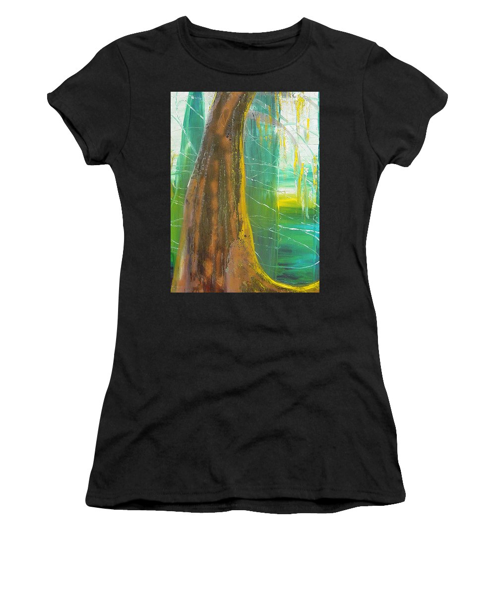 Landscape Women's T-Shirt (Athletic Fit) featuring the painting Georgia Morning by Peggy Blood