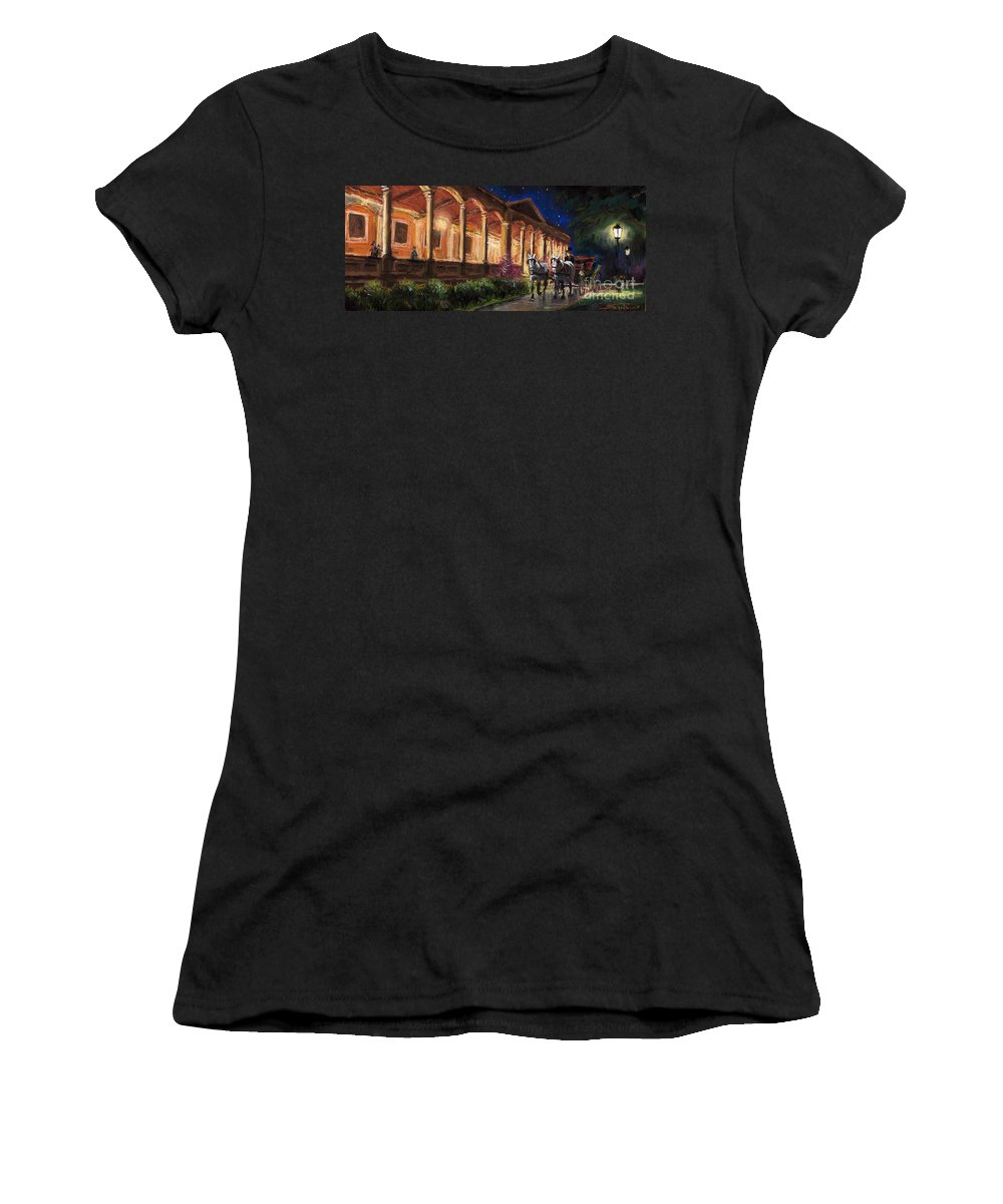 Pastel Women's T-Shirt (Athletic Fit) featuring the painting Germany Baden-baden 13 by Yuriy Shevchuk