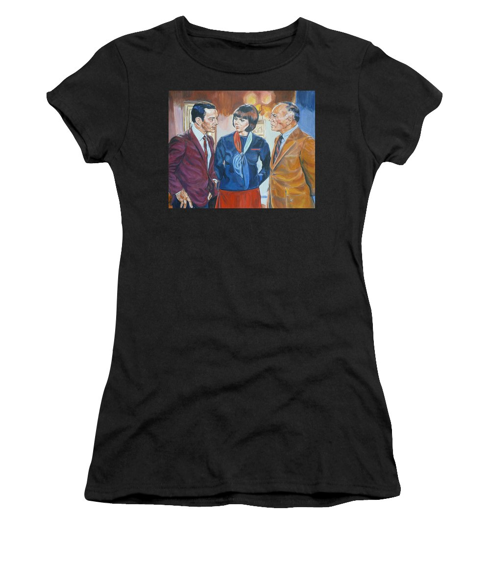 Maxwell Smart Women's T-Shirt (Athletic Fit) featuring the painting Get Smart by Bryan Bustard