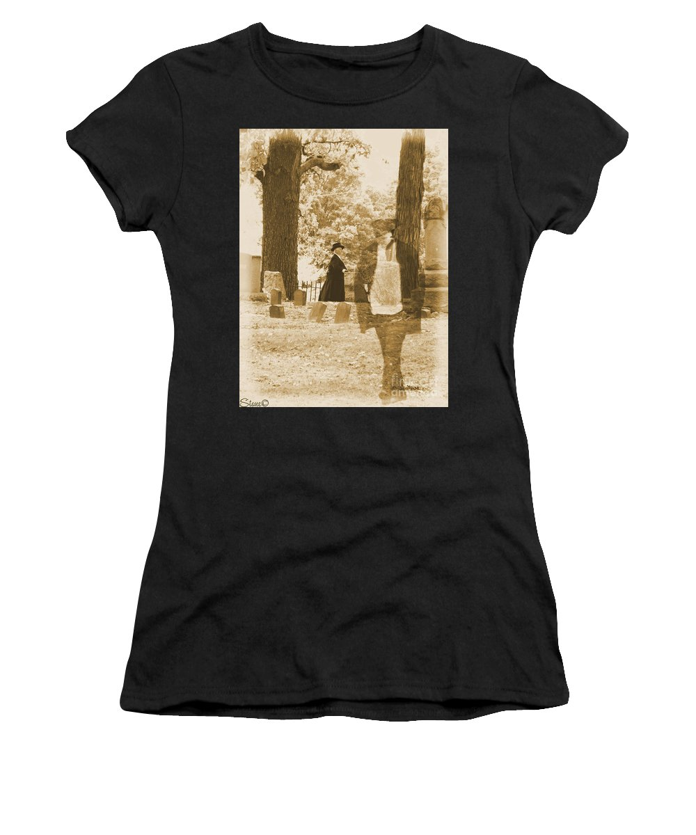 Art Women's T-Shirt (Athletic Fit) featuring the photograph Ghost In The Graveyard by September Stone