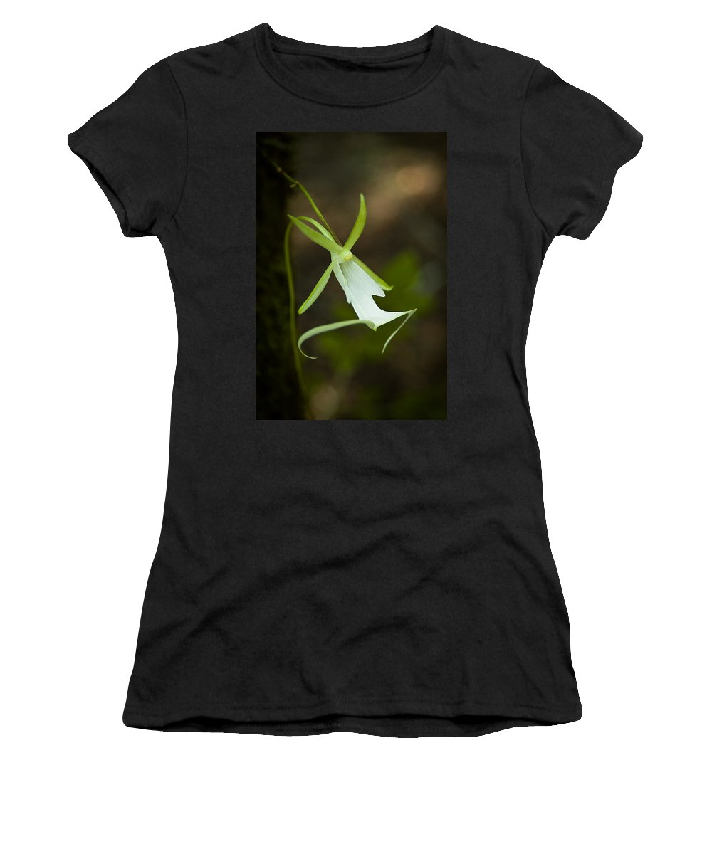 Ghost Women's T-Shirt (Athletic Fit) featuring the photograph Ghost Orchid by Rich Leighton