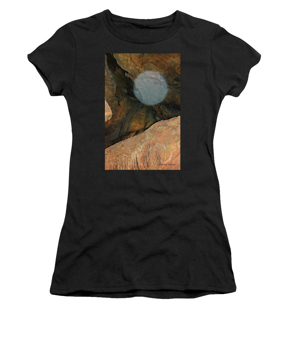 Orb Women's T-Shirt (Athletic Fit) featuring the photograph Ghostly Presence by DigiArt Diaries by Vicky B Fuller