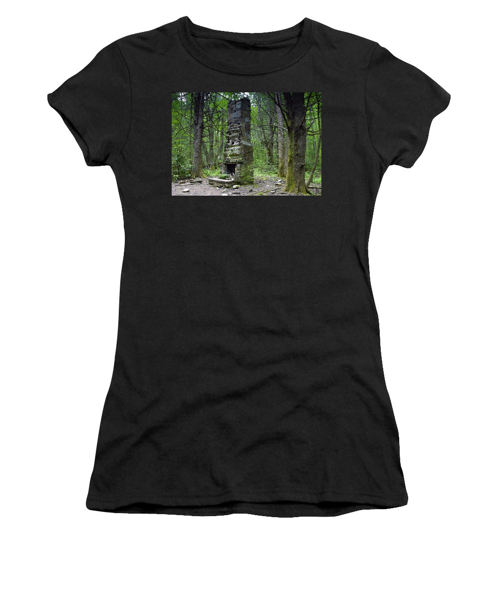 Chimney Women's T-Shirt featuring the painting Ghostly Reminder by David Lee Thompson