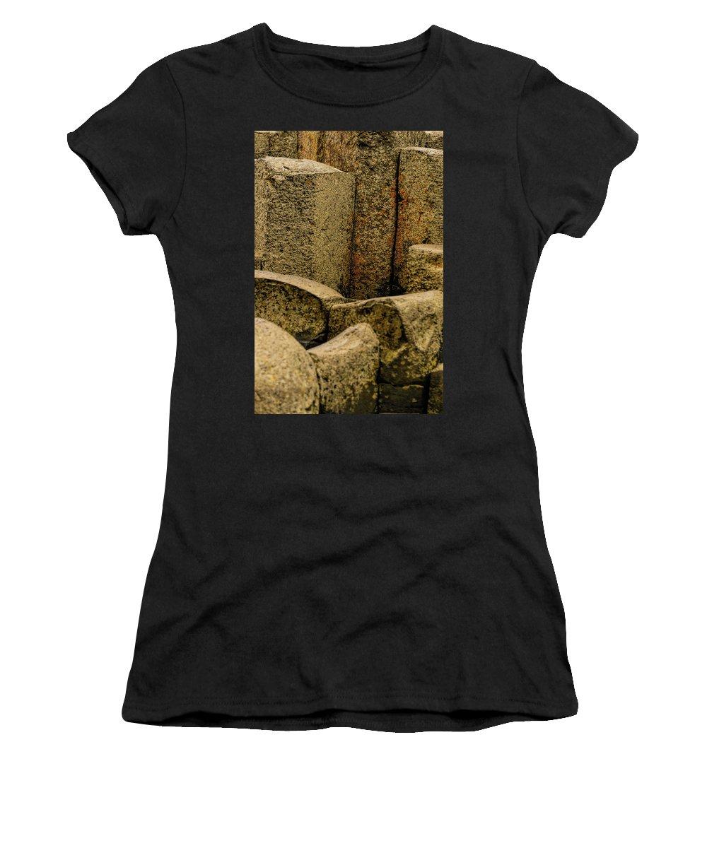 Landscape Women's T-Shirt (Athletic Fit) featuring the photograph Giant's Causeway #3 by Elvis Vaughn