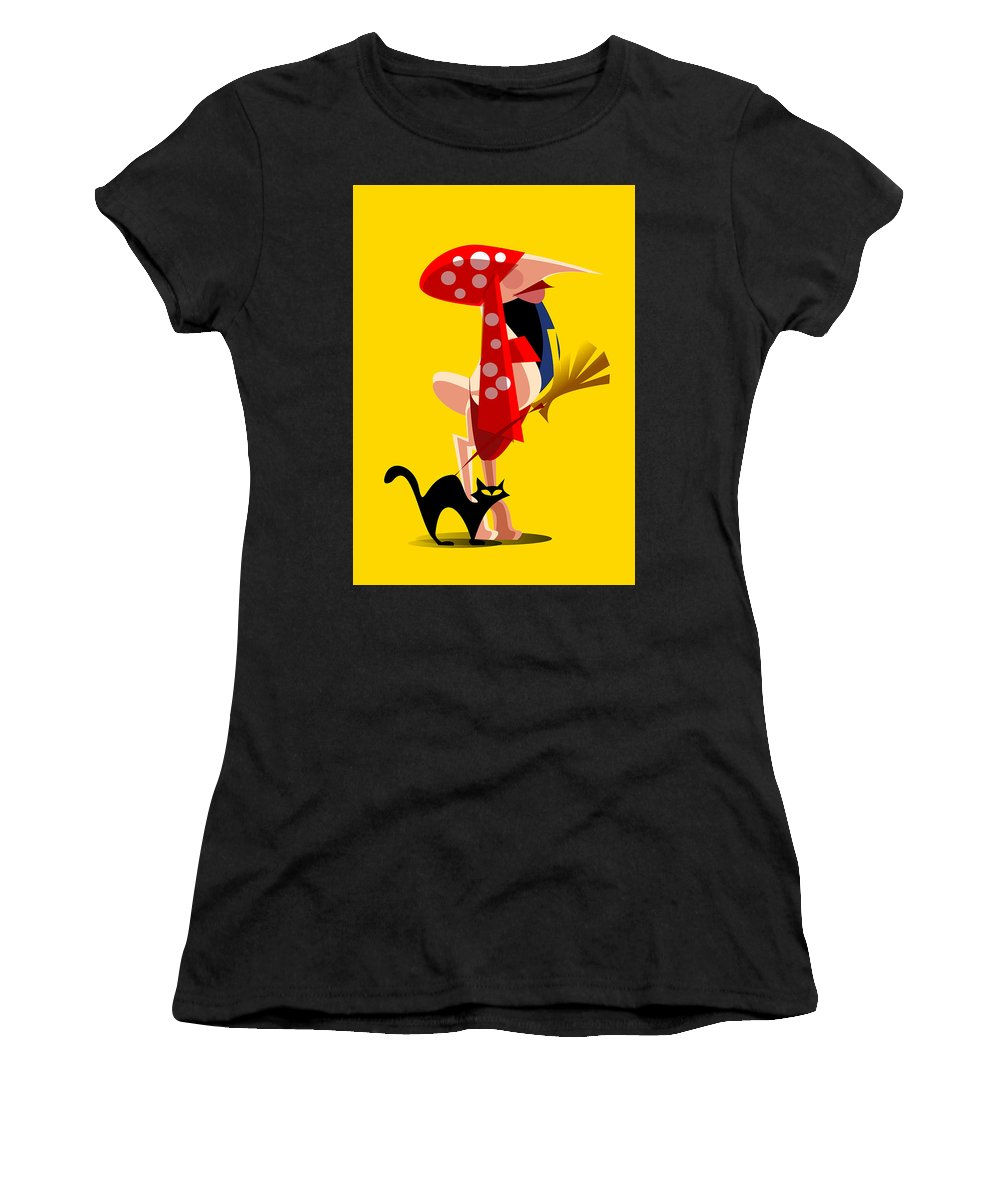 Gipsy Women's T-Shirt (Athletic Fit) featuring the digital art Gipsy by Emilio Martinez