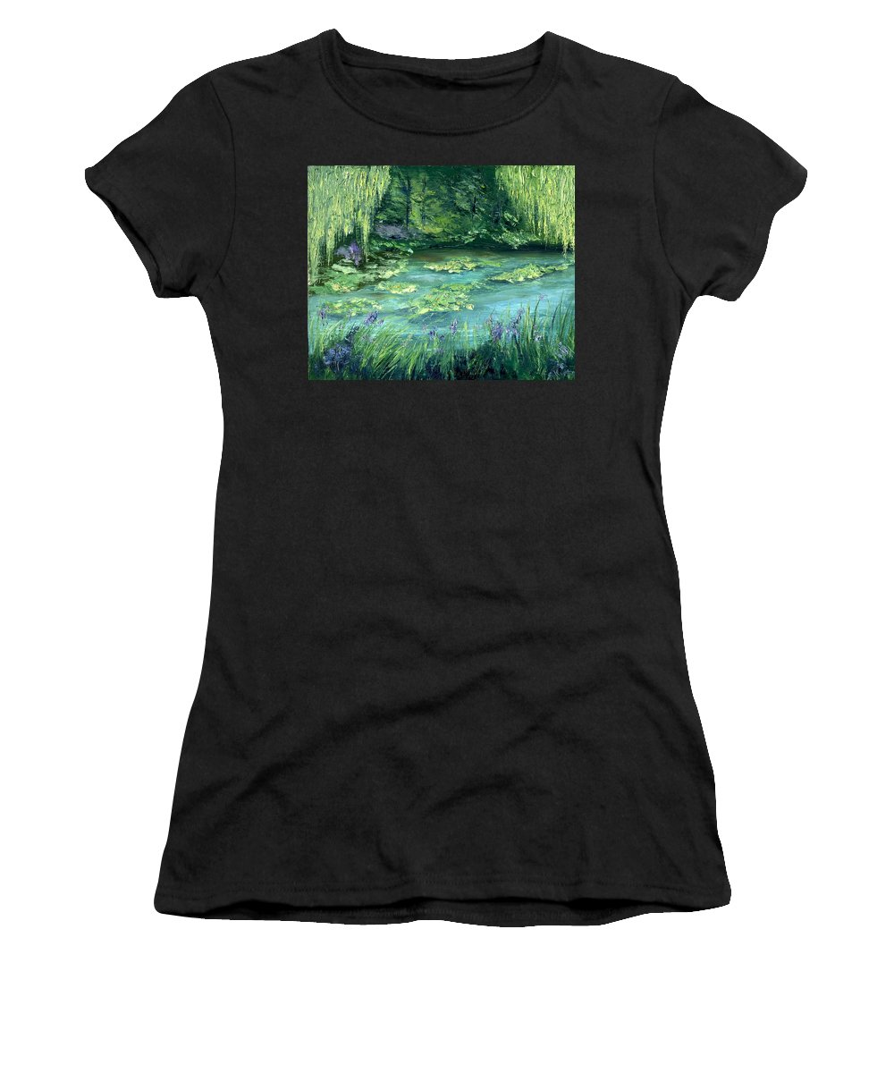 Giverny Women's T-Shirt (Athletic Fit) featuring the painting Giverny by Gail Kirtz
