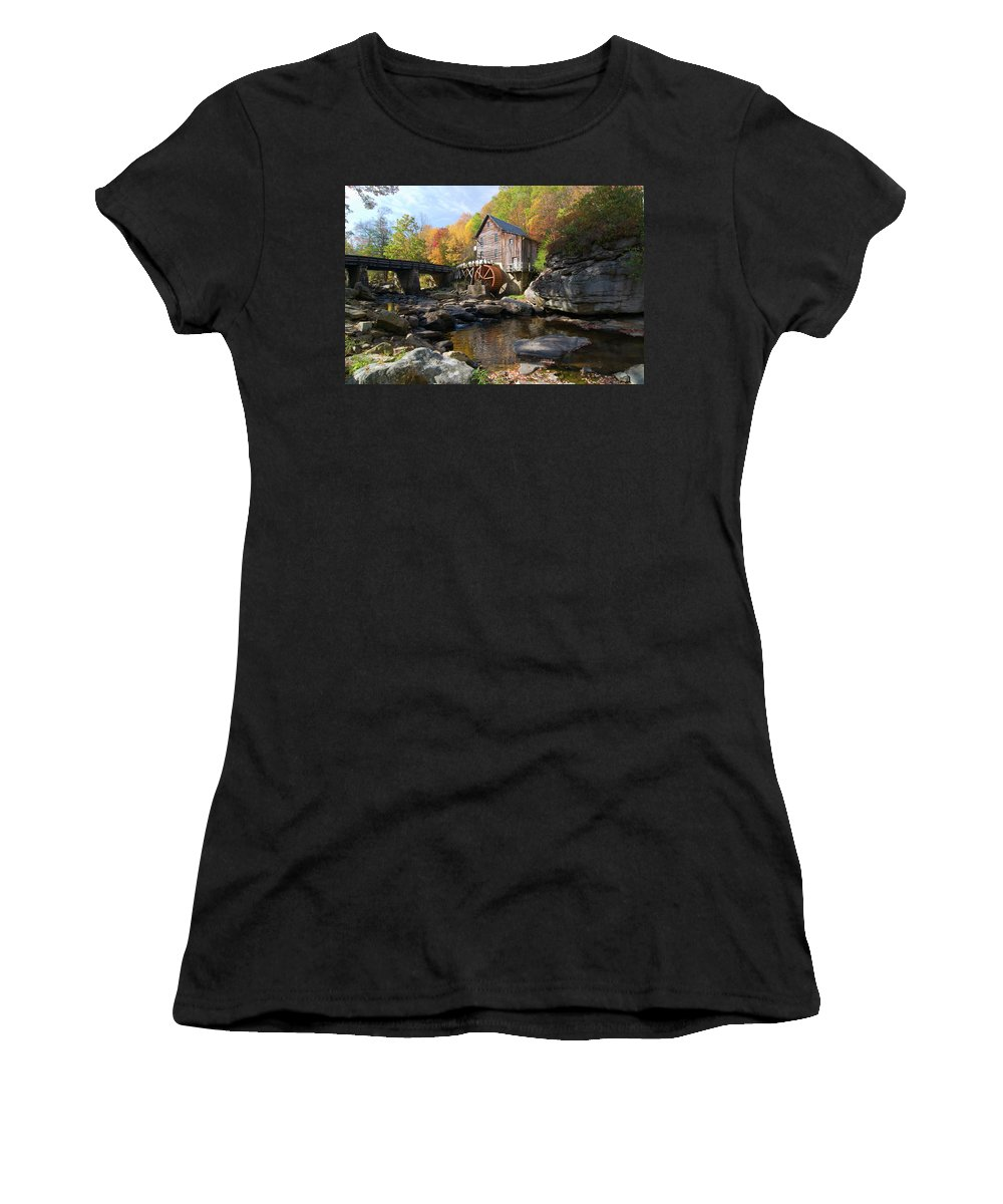 Mill Women's T-Shirt featuring the photograph Glade Creek Grist Mill by Steve Stuller