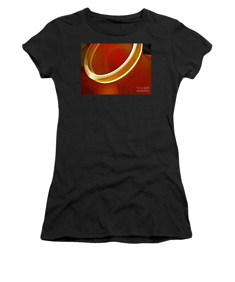Glass Women's T-Shirt featuring the photograph Glass Abstract 776 by Sarah Loft