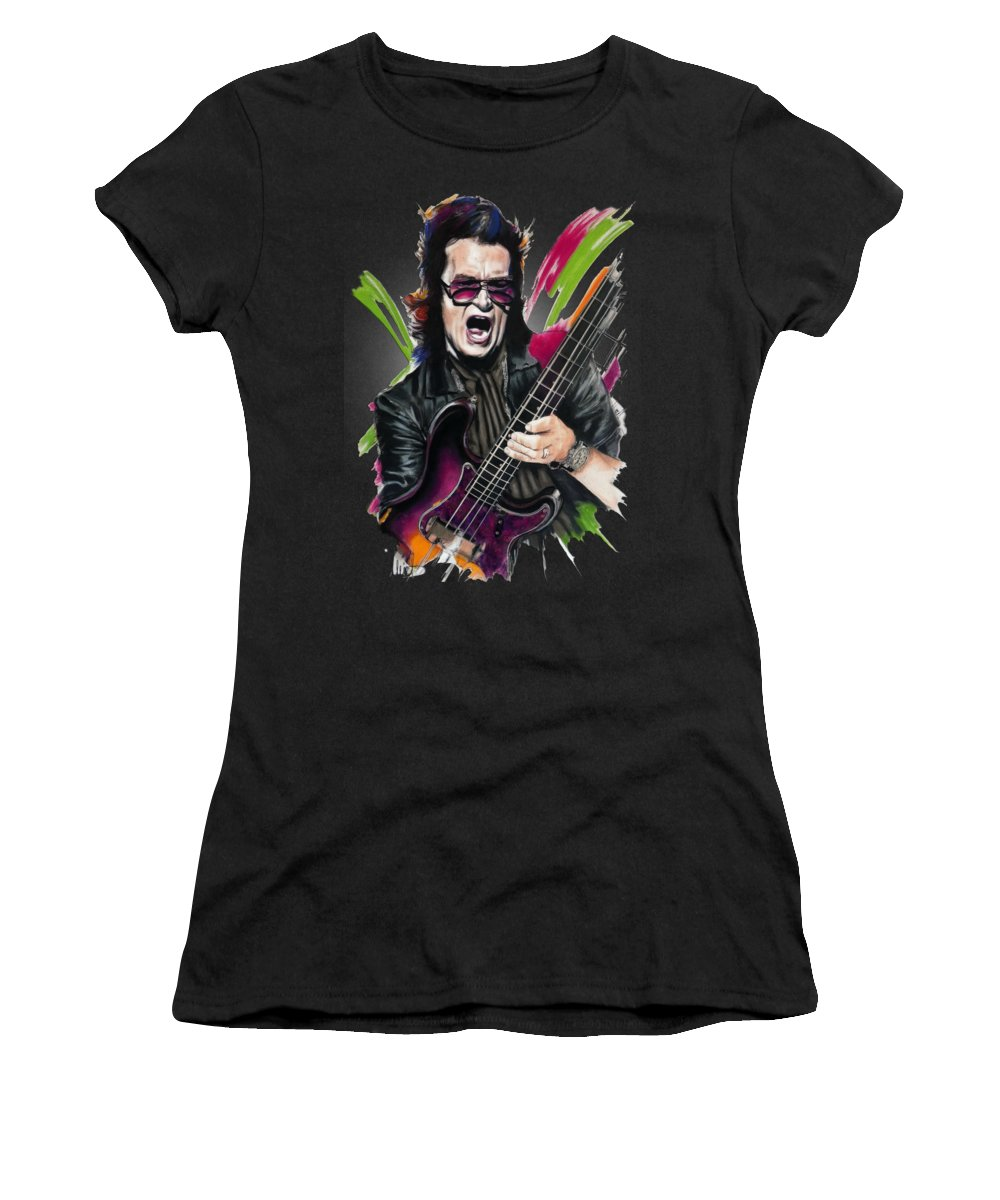 Glenn Hughes Women's T-Shirt featuring the pastel Glenn Hughes by Melanie D