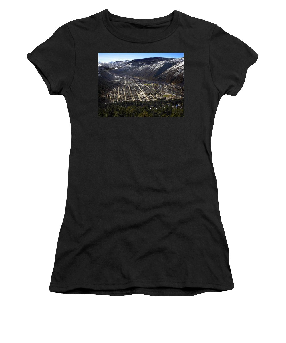 City Women's T-Shirt featuring the photograph Glenwood Springs Canyon by Marilyn Hunt