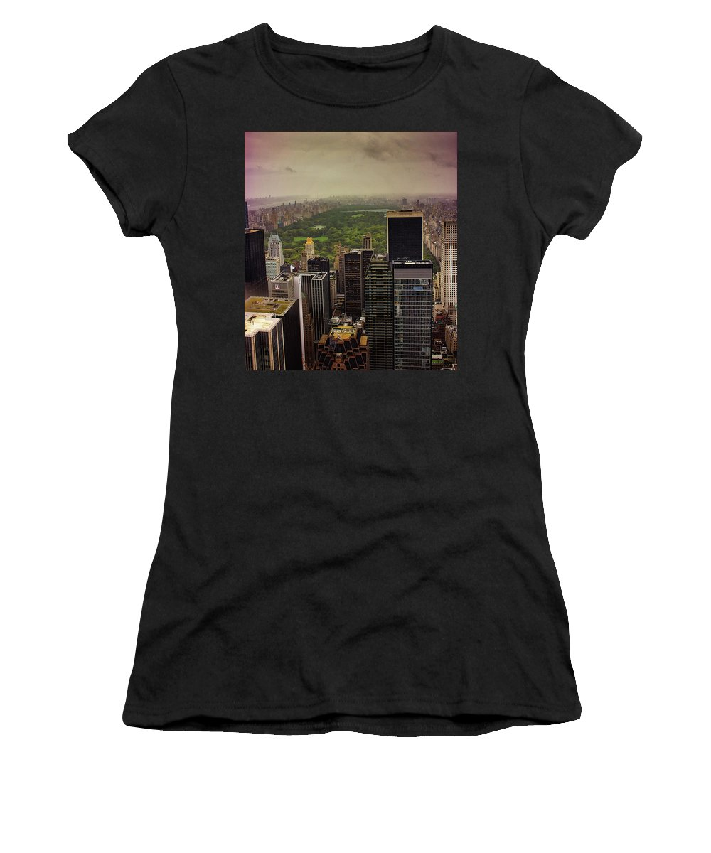 City Women's T-Shirt (Athletic Fit) featuring the photograph Gloomy Central Park by Martin Newman
