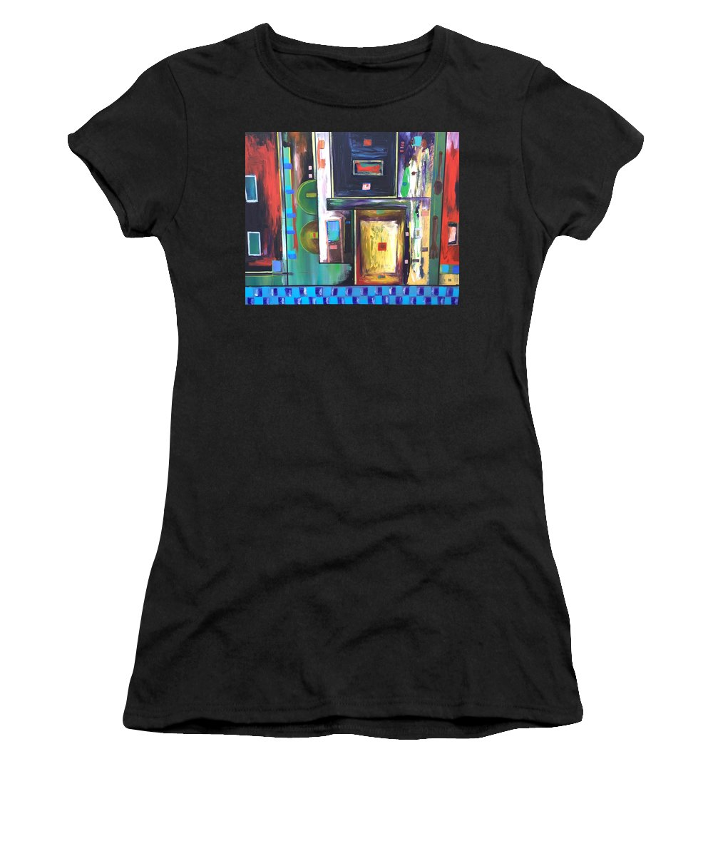 Women's T-Shirt (Athletic Fit) featuring the painting Gloria B Kitchen by Don Stokes