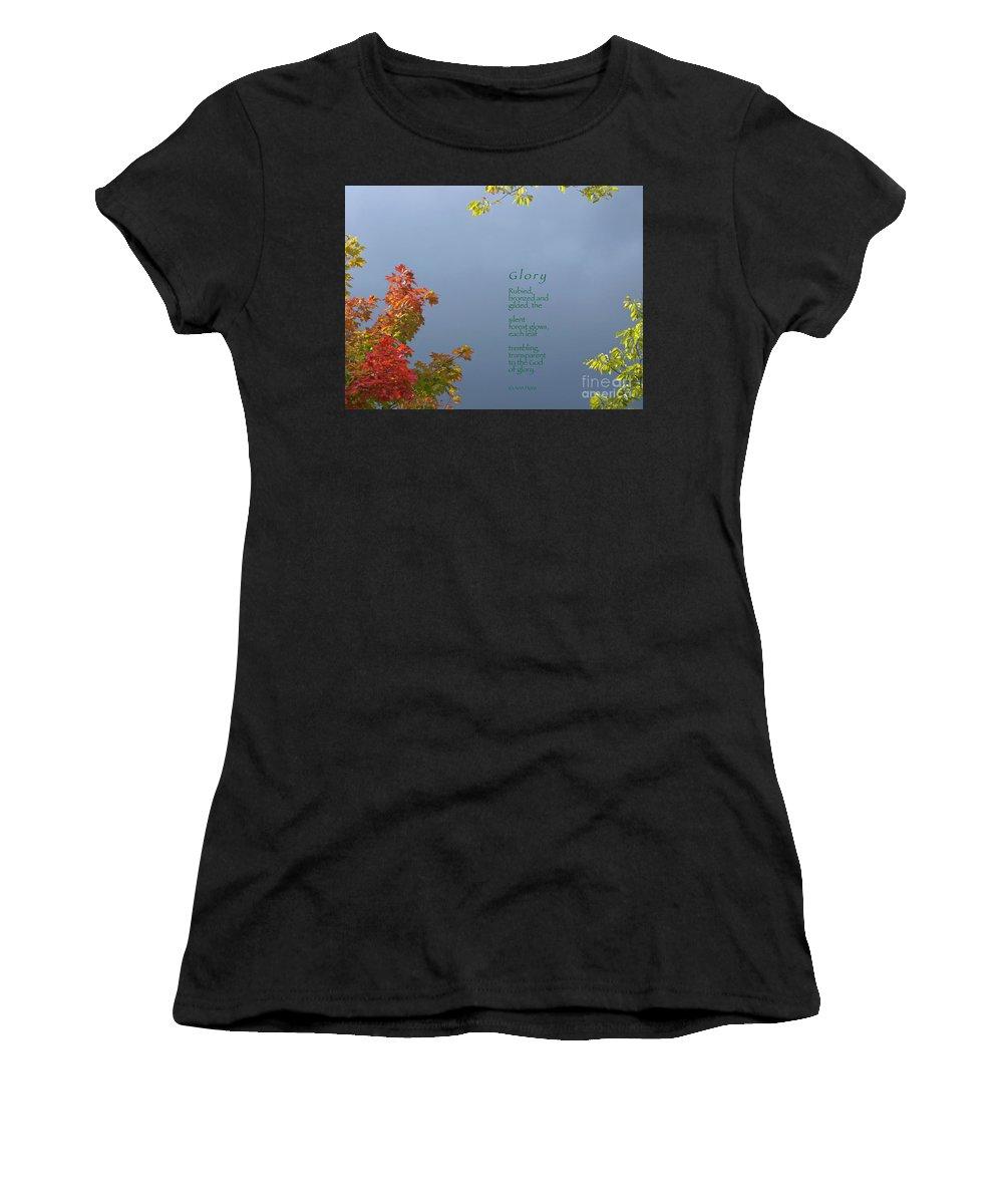 Autumn Women's T-Shirt featuring the photograph Glory by Ann Horn