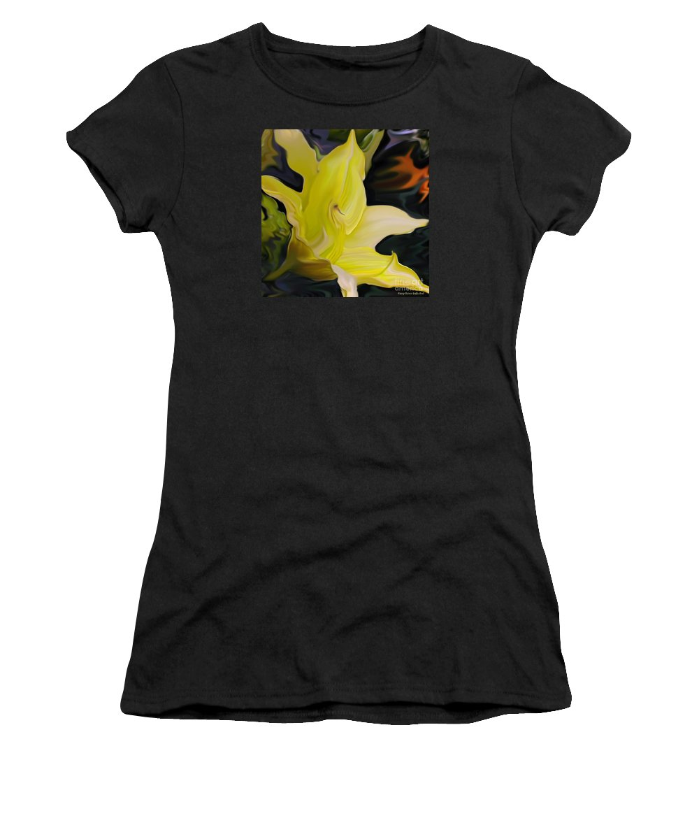 Fine Art Print Women's T-Shirt (Athletic Fit) featuring the painting Glory II by Patricia Griffin Brett