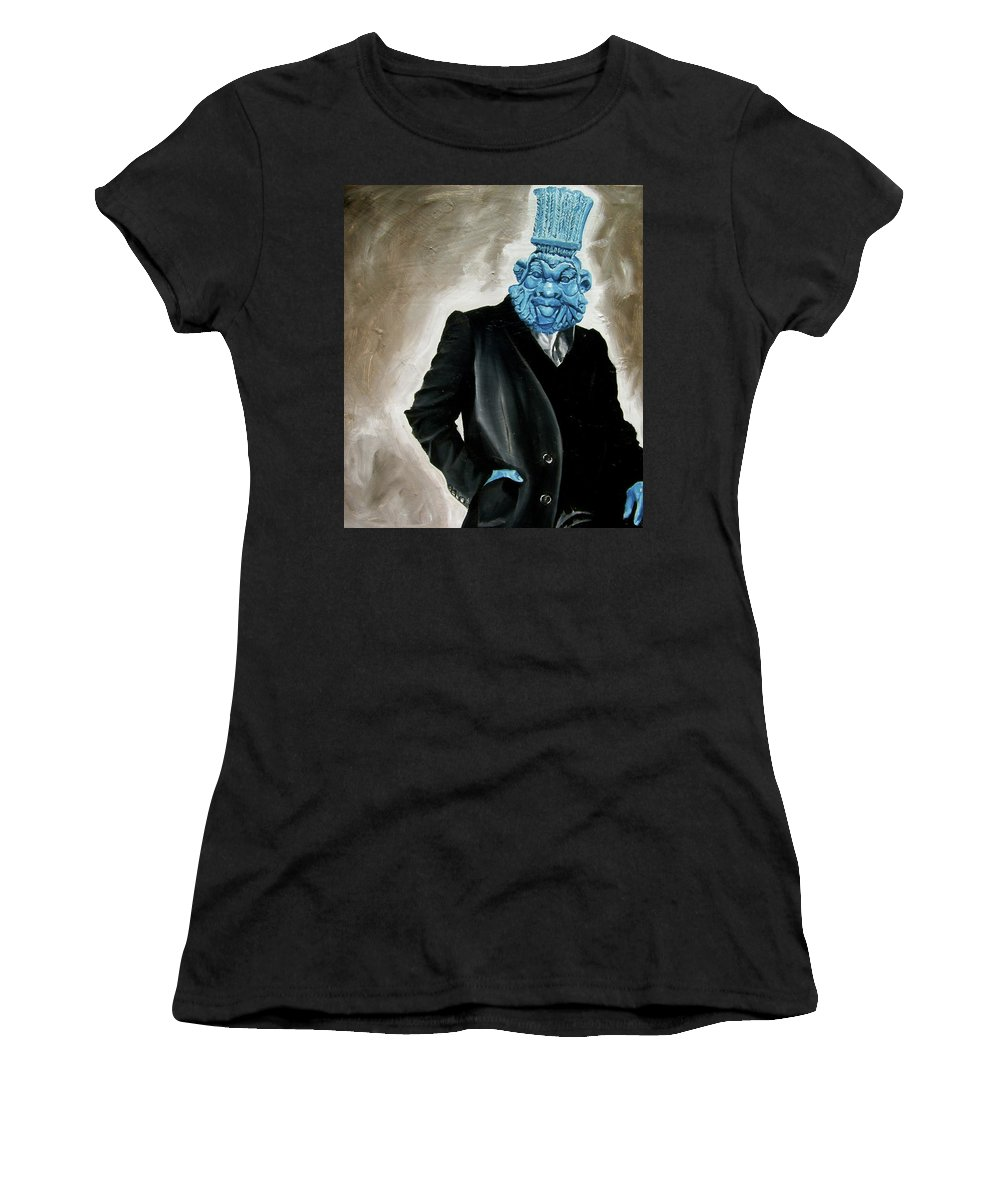 God Women's T-Shirt featuring the painting God by Laura Pierre-Louis