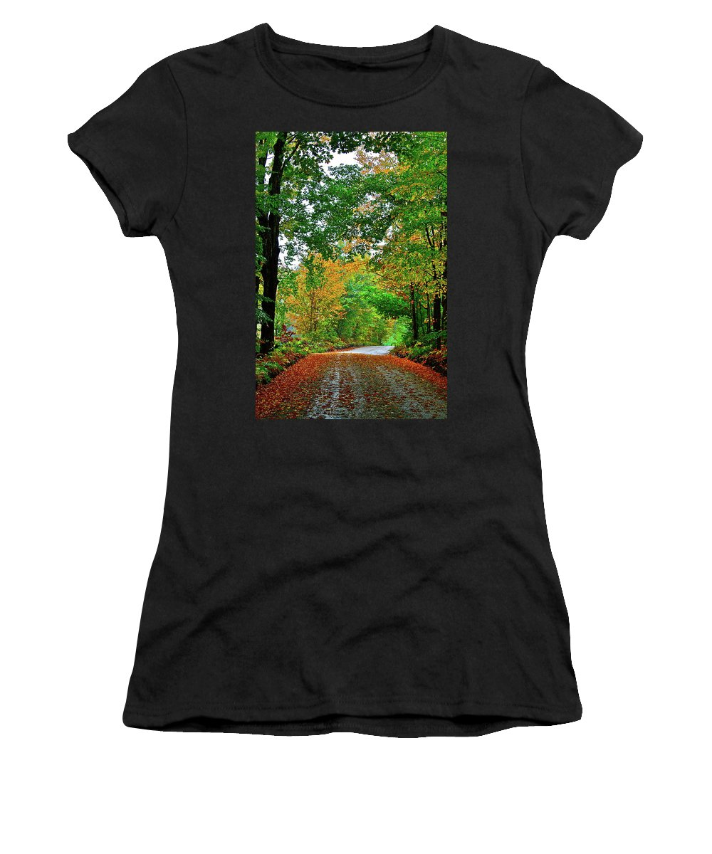 Country Women's T-Shirt (Athletic Fit) featuring the photograph God's Confetti by Diana Hatcher