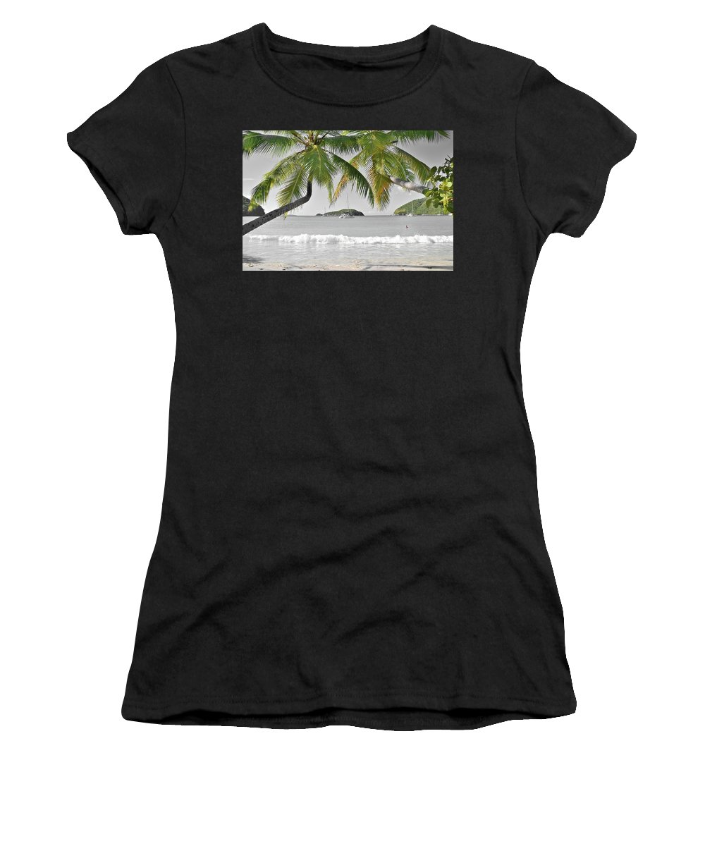 St. Women's T-Shirt (Athletic Fit) featuring the photograph Going Green To Save Paradise by Frozen in Time Fine Art Photography