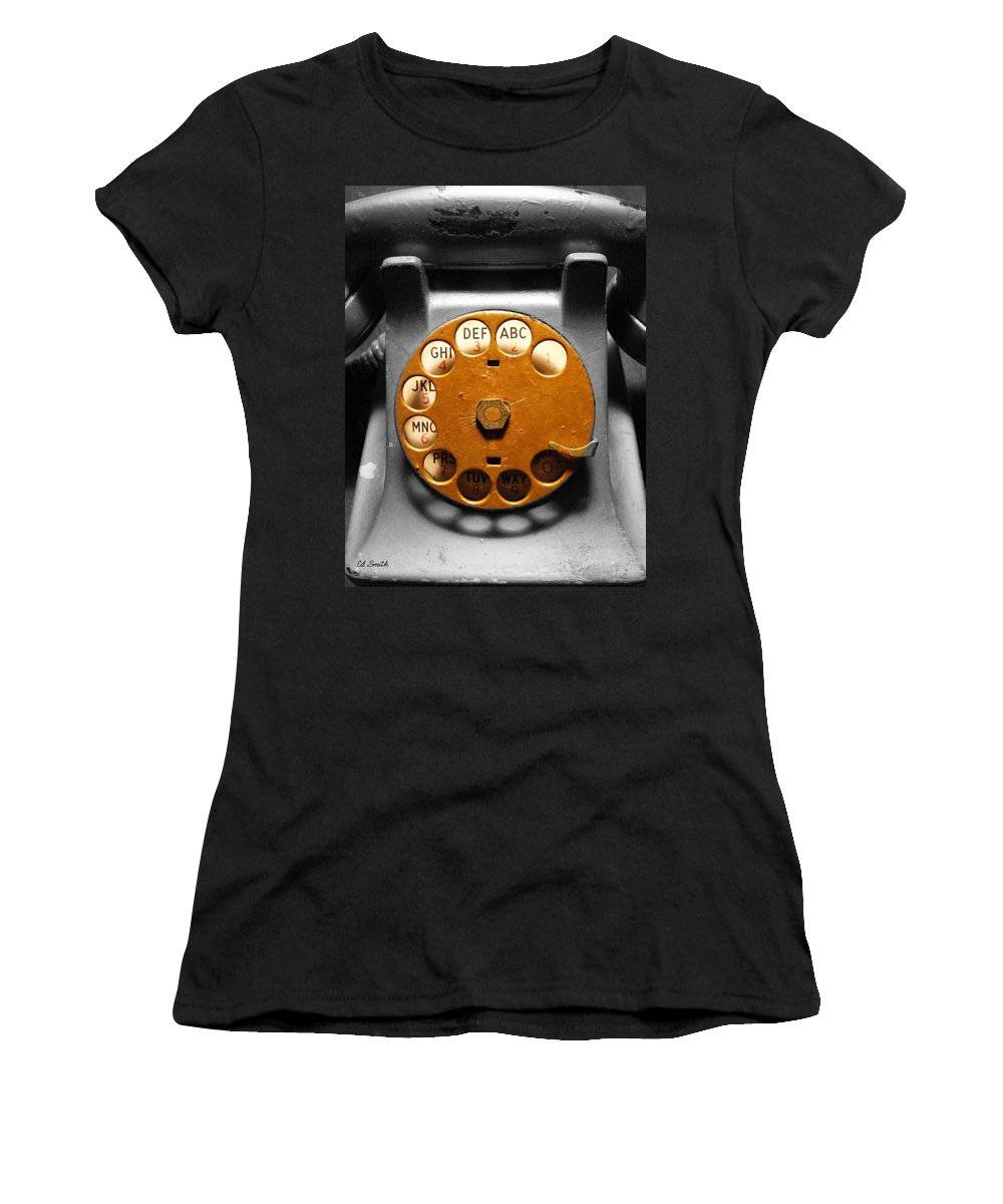 Gold Finger Women's T-Shirt (Athletic Fit) featuring the photograph Gold Finger by Ed Smith
