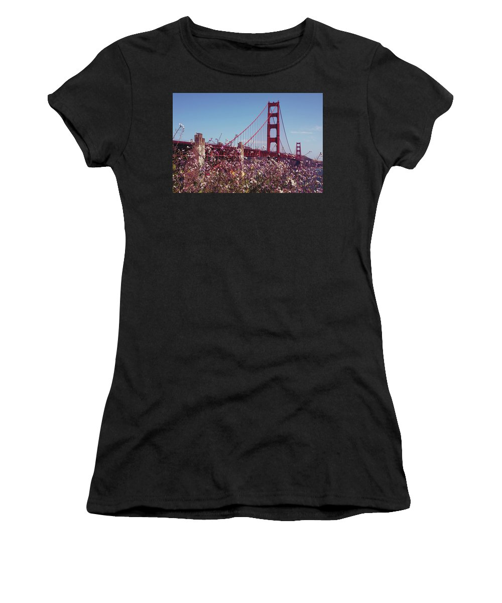Sanfrancisco Women's T-Shirt featuring the photograph Golden Gate by The Artist Project