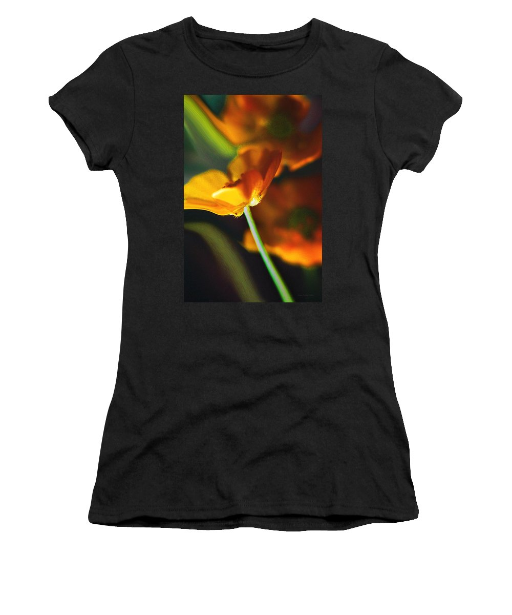Flowers Women's T-Shirt (Athletic Fit) featuring the photograph Golden Possibilities... by Arthur Miller