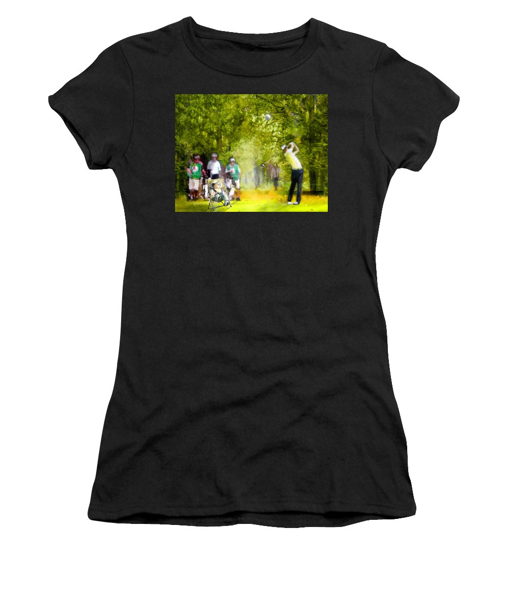 Golf Women's T-Shirt (Athletic Fit) featuring the painting Golf Trophee Hassan II In Royal Golf Dar Es Salam Morocco 03 by Miki De Goodaboom