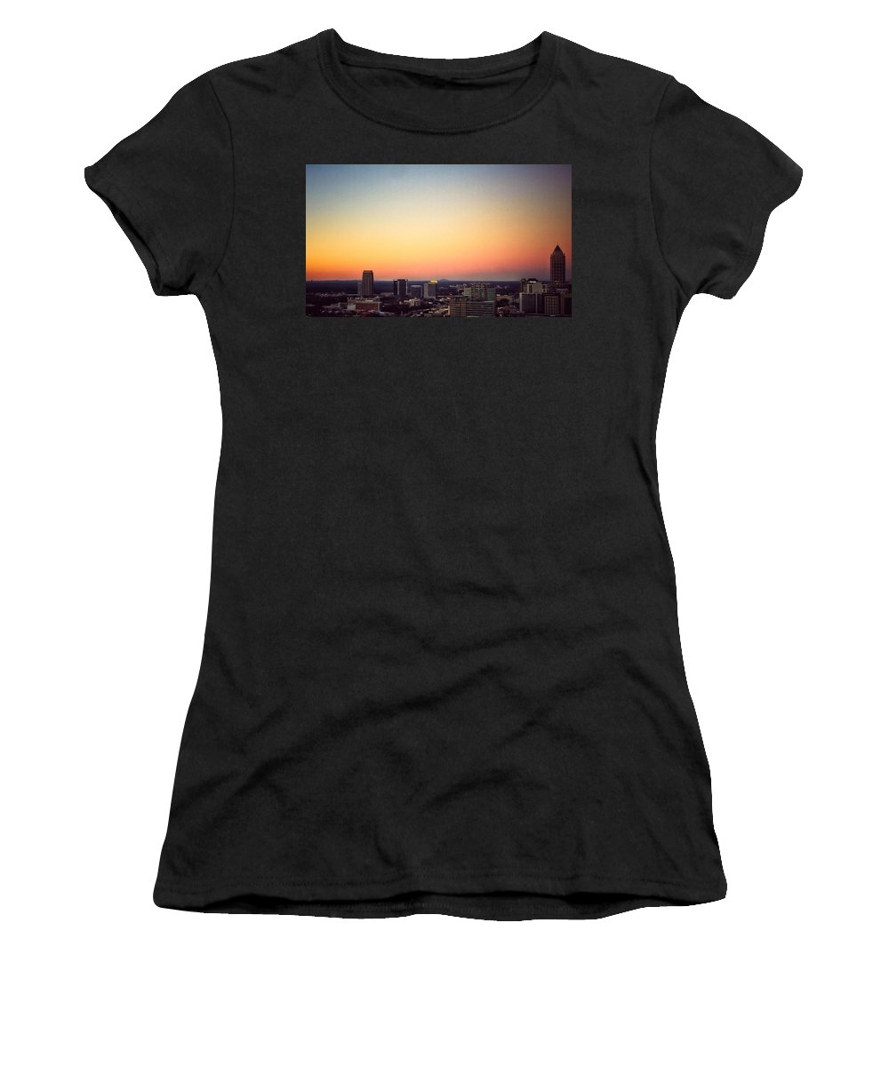 Sunset Women's T-Shirt featuring the photograph Good Evening by Mike Dunn