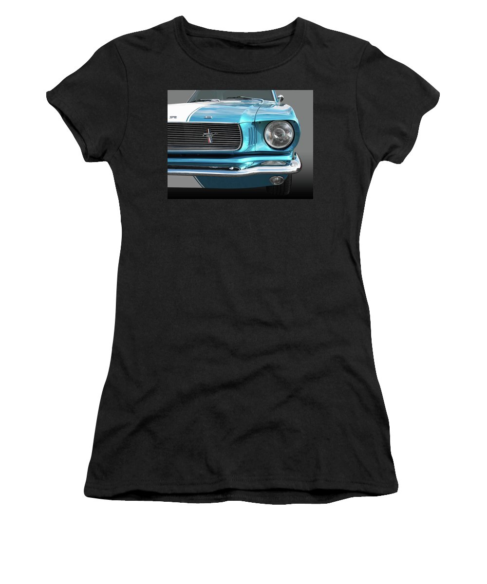 Ford Mustang Women's T-Shirt (Athletic Fit) featuring the photograph Good Vibrations by Gill Billington